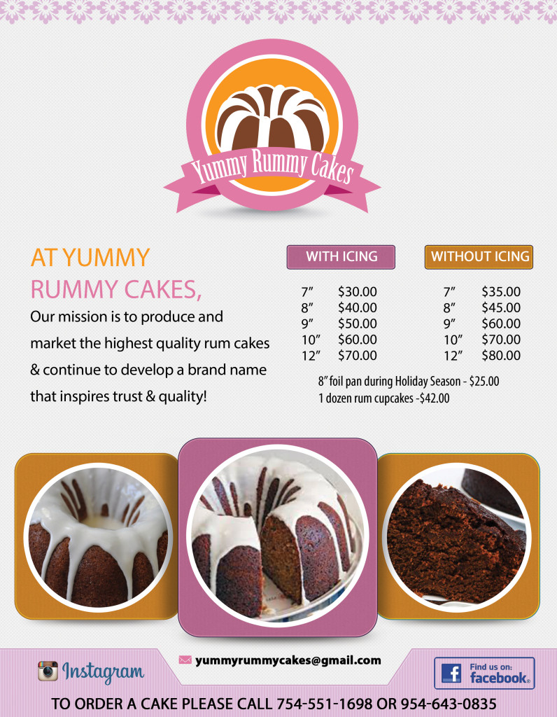 Yummy rummy cakes bacl